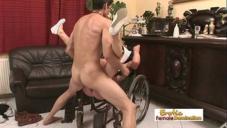 Grandmother Recieves Out Of Her Wheelchair Just To Sex Actually Tough