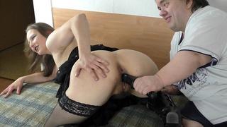 Chubby Midget Fucks Thin Girl With Vibrator To Orgasm – Hairy Vagina